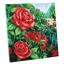 Kit châssis perles à coller Roses rouges