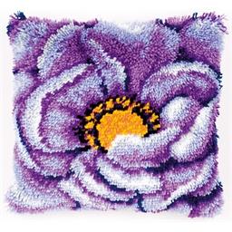 Kit coussin point noué Violettes