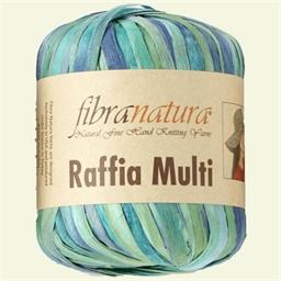 Le fil à crocheter Raffia Multi Rose