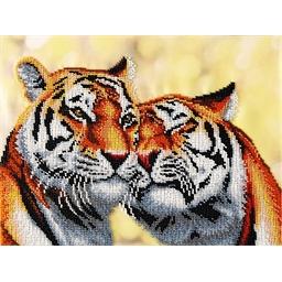 Kit broderie perles : Tigres