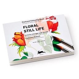 Cartes postales à colorier : Florales