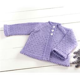 Kit tricot gilet lavande : 12 mois ou 24 mois