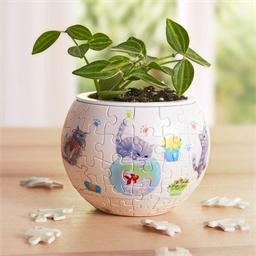 Puzzle pot de fleurs 3D Chats joueurs
