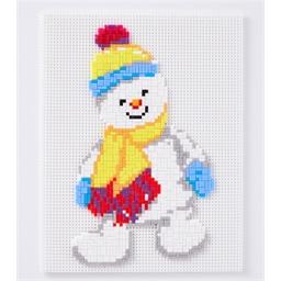 Mosaïc art Bonhomme de neige