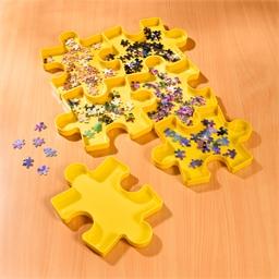 Lot de 6 boîtes range-puzzle empilables