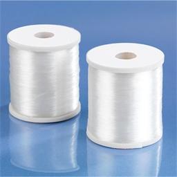 Lot de 2 bobines fil couture transparent