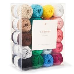 Coffret de 20 pelotes à crocheter Multicolores