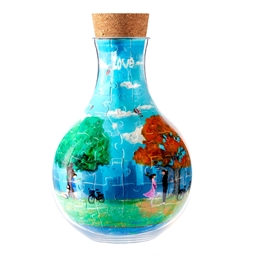 Puzzle bouteille 3D 4 saisons