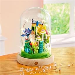 Kit décor cloche verre Jardin luxuriant