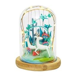 Kit décor cloche verre Forêt enchantée