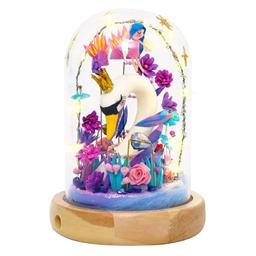 Kit décor cloche verre Royaume du cygne