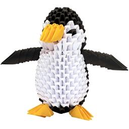 Kit origami 3D Pingouin