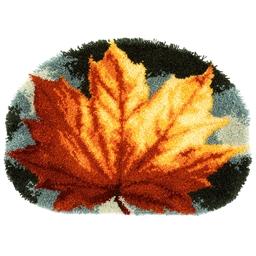 Kit tapis point noué Feuille d'automne