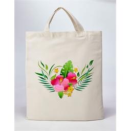 Sac tissu à colorier Hibiscus