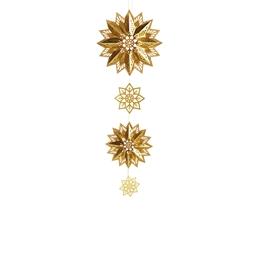 Set de 3 étoiles 3D dorées à réaliser