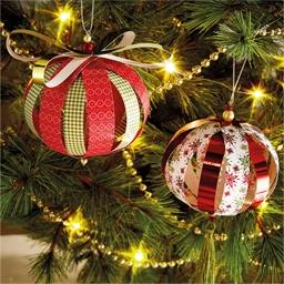 Set de 8 boules de Noël en papier à réaliser