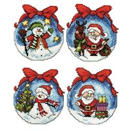 Set de 4 décorations de Noël à broder