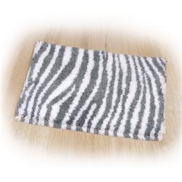 Kit tapis point noué Zèbre gris et blanc