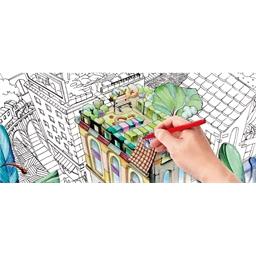 Puzzle 500 pièces à colorier Ville secrète