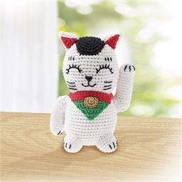 Kit crochet chat porte-bonheur