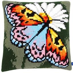 Kit coussin canevas Papillon multicolore