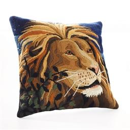 Kit coussin canevas Tête de lion