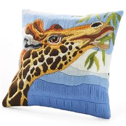 Kit coussin canevas Tête de girafe