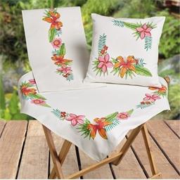 Chemin de table à colorier Hibiscus