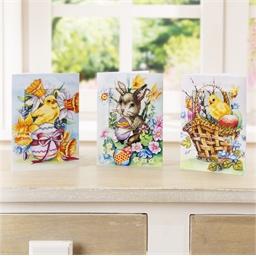 Set de 3 cartes à broder vivement le printemps