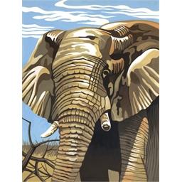 Peinture par numéros medium Eléphant
