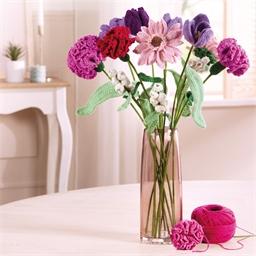 Kit fleurs au crochet Gerbera