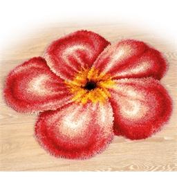 Kit tapis point noué fleur