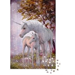 Puzzle crystal swarovski Licorne et son petit