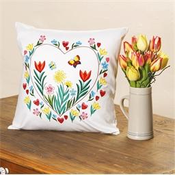 Set de 2 coussins à colorier Chœur de fleurs