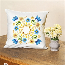 Set de 2 coussins à colorier Mandala fleuri