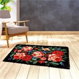 Kit tapis point noué Roses anciennes