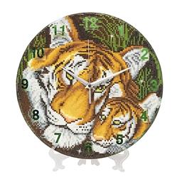 Kit perles à coller horloge Tigres