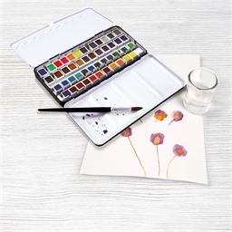 Set aquarelles 48 couleurs assorties