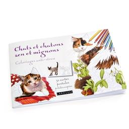 Cartes postales à colorier Chats/chatons