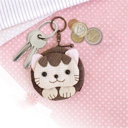 Kit porte-clés chat à coudre