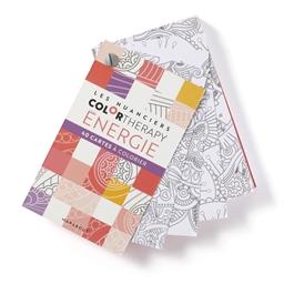 Cartes à colorier color therapy Energie