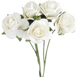 Set de 10 mini roses Blanches