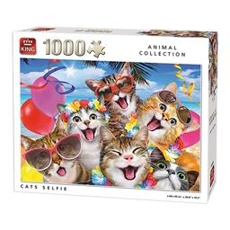 Puzzle 1000 pièces Chats selfies