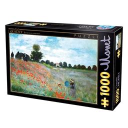 Puzzle 1000 pièces Champ de coquelicots