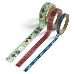 Masking tape Animaux à Noël