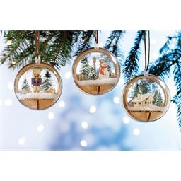 Set boule de Noël Bonhomme de neige