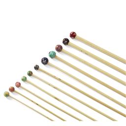 Aiguilles bambou décorées