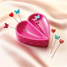 Porte-épingles aimanté cœur