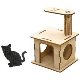 Puzzle 3D bois Chats joueurs Arbre à chat