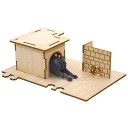 Puzzle 3D bois Chats joueurs Attrape souris